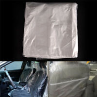 10X Disposable Plastic Car Seat Covers Protectors Mechanic Valet Roll Plast R jx