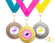 Equestrian Dressage Show Jumping Horse Award Medal Personalised + Ribbon