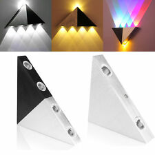 3W LED Triangle Wall Light Lamp Restroom Bedroom Wall Sconce Lamp Multicolor