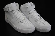 [314195 113] KID'S GS NEW NIKE AIR FORCE 1 MID ALL WHITE GRADE SCHOOL