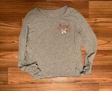 Victoria Secret Sleep Shirt Large Queen Gray Long Sleeve