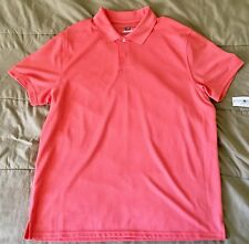 57e3dd79d CLUB ROOM Slim Fit ESTATE PERFORMANCE Polo Shirt Neon Orange Mens Sz XL NEW  NWT