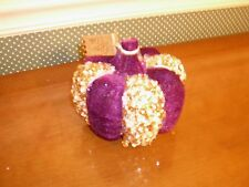 "Glitterville - 4.5"" Encrusted Velvet Pumpkin- C As Shown-New"