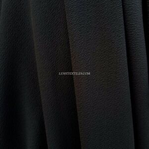 Plain Black Viscose Jersey Stretch Fabric Cotton Materials 150cm Wide Crepe