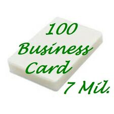 100 Business Card 7 Mil Laminating Pouches Laminator Sheets 2-1/4 x 3-3/4 Fast