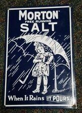 Morton salt porcelain sign