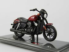 MAISTO H-D CUSTOM 2005 HARLEY-DAVIDSON STREET 750 RED 1:18 DIE CAST NEW