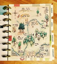 Winnie the Pooh Wood Map Two-Sided Dashboard for use with Happy Planner