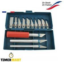 Cutter Coffret 3 Outil Couteau à Lames de Précision Scalpel Cutter + 13 Lames