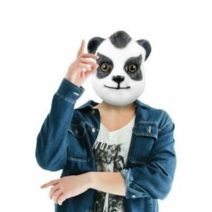 Latex Panda head Mask Halloween Mosquerade Costumes party Carnival Cosplay Props