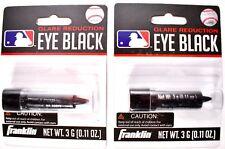 (Lot of 2) Franklin Sports Glare Reduction Eye Black 3g (0.11 oz) Each #2759 New