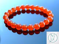 Carnelian Natural Gemstone Bracelet 6-9'' Elasticated Healing Stone Chakra Reiki