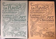 1897 LA PLANTE ET SES APPLICATIONS ORNEMENTALES PUBLIE PAR GRASSET 2 COUVERTURE
