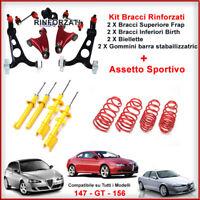 Kit Bracci Anteriori Rinforzati + Kit Assetto Sportivo Alfa Romeo 147 Frap Birth