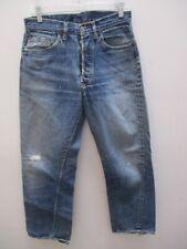 Vintage Levi's 501 S Type Big E Redline Selvedge Jeans Repairs Size 31 X 28