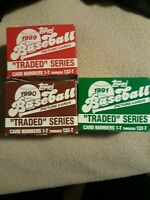 Topps 1989, 1990, 1991 Traded Series Ken Griffey Jr Rookie?? Rare cards possible