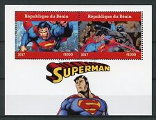 Benin 2017 CTO Superman 2v M/S Batman Comics Superheroes Stamps