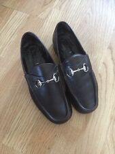 GUCCI HORSEBIT LOAFER SHOES SIZE 40 E (8)UK DARK BROWN MENS