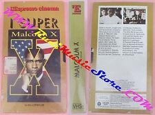 film VHS cartonata MALCOLM X Denzel Washington ESPRESSO sigillata (F141) no dvd