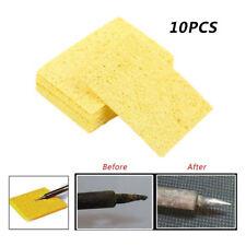 10PC Yellow High Temperature Endure Electric Welding Soldering Iron Clean Sponge