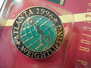 1996 ATLANTA OLYMPIC PIN OLYMPIC GAMES WEIGHTLIFTING
