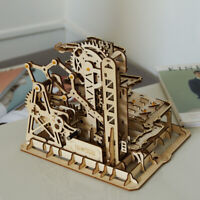 Robotime Laser Cut 3D Puzzle Wooden Marble Run Kits Assembly Toy for Adults Kids