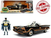 1966 Classic TV Series Batmobile With Diecast Batman And Plastic Robin In 1/24
