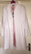 Gharani Strok Debenhams Textured White Coat Size 16 New With Tags