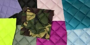 Quilted Fabric Waterproof 4oz BOX Design Sold By The Metre FREE DELIVERY UK