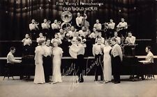 RP Postcard Fred Waring's Pennsylvanians Old Gold Hour Band Singers~128425