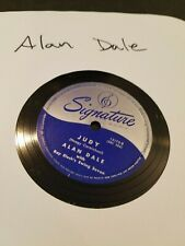 """Alan Dale-JUDY/AN Old Sombrero /Signature 15175 10"""" 78 RPM"""