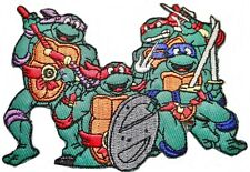 """Teenage Mutant Ninja Turtles Characters Pose 4"""" Wide Embroidered Patch"""