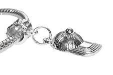 Baseball Cap Hat Silver Plated Clothing Dangle Bead for European Charm Bracelets