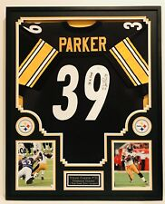 WILLIE PARKER #39 PITTSBURGH STEELERS 2x CHAMP AUTOGRAPHED FRAMED JERSEY JSA/COA