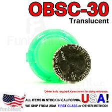 Sanwa Original OBSC-30 Green Translucent Push Button JAMMA guitar killswitch