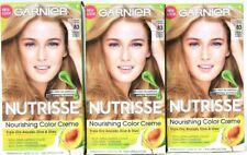 3 Boxes Garnier Nutrisse 83 Cream Soda Medium Golden Blonde Permanent Haircolor