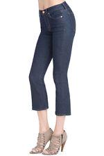 J Brand Women's Size 28 Gigi Pure Cropped Flare Jeans Mid Rise Dark Wash ZB26