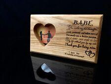 Handmade Personlised Photo Frame. Valentine's Day Gift.