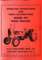 ALLIS CHALMERS D-17 Diesel Tractor Owners Parts Manual
