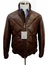 NWT Rare Tom Ford Brown quilted leather bomber jacket Size Large ITALY