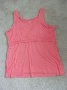 aglow Maternity/ Nursing Coral Sleeveless Tank Top Women's size XL New With Tag