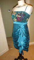 Stunning Monsoon Silk & Sequins Dress.Size UK 10