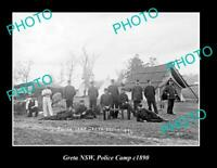 OLD 8x6 HISTORIC PHOTO OF GRETA NSW POLICE CAMP c1890