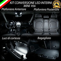 KIT LED INTERNI PER MINI COOPER / ONE R56 COMPLETO 6000K CANBUS + LUCI TARGA LED
