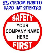 25 Custom Printed HARD HAT STICKERS | Decals Personalized with Your Company Name