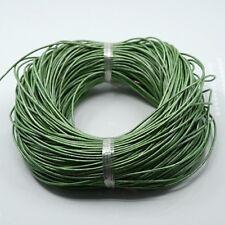 1,5 mm mocasines de cuero Cable 5 Metros, la fabricación de joyas, Verde