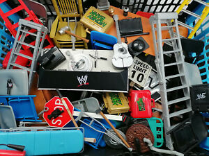 WWE Accessories Weapons wrestling figure lot wwf/wcw/ecw