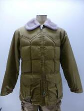 Vtg Comfy tan Sherpa zip up Goose Down quilted Puffer winter Coat mens sz Large