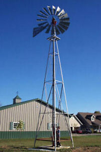 8ft A-702 Windmill with 21ft Tower, all new, ALL USA MADE