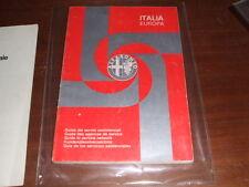 Guida Ai servizi Alfa Romeo alfa 33 155 anni 80 90